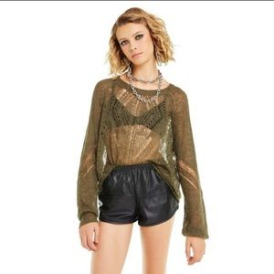 Wildfox Women's Forest Green Jackie Sweater-L